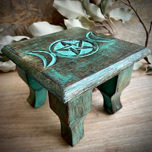 Triple Moon with Pentagram Altar/Green
