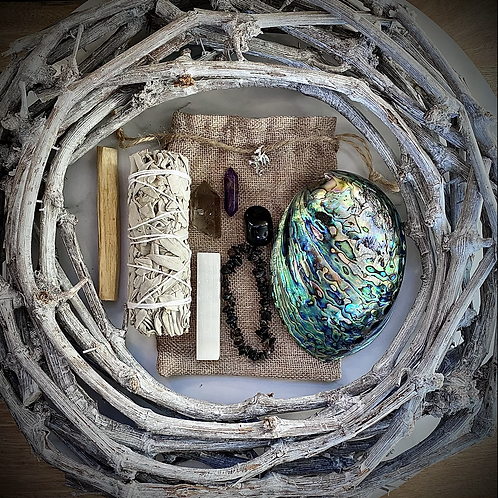 Ground & Purify Smudge Crystal Kit