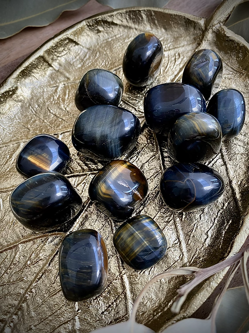 Blue Tigers Eye Tumbles (Intuitively Chosen)