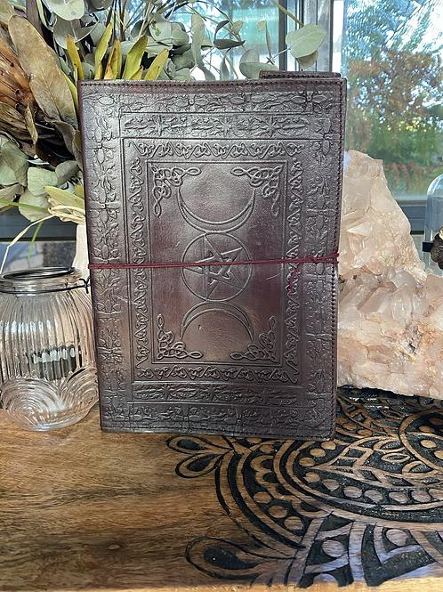 Triple Moon Pentagram Journal