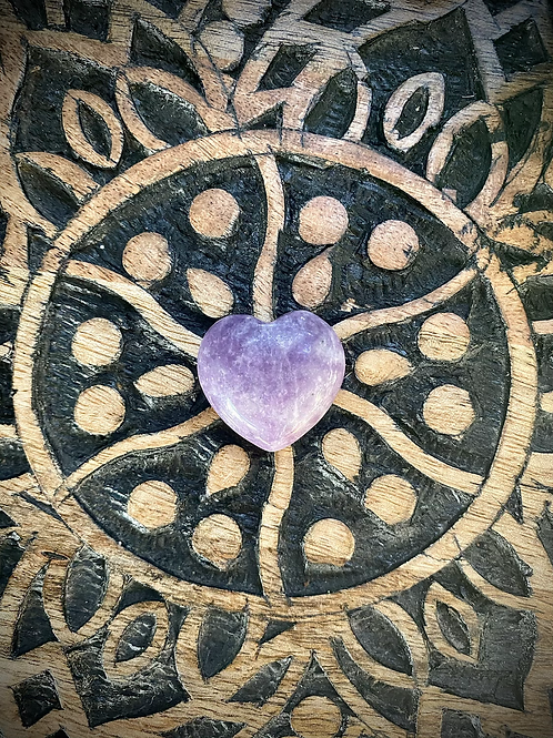 Lepidolite Hearts (Intuitively Chosen)