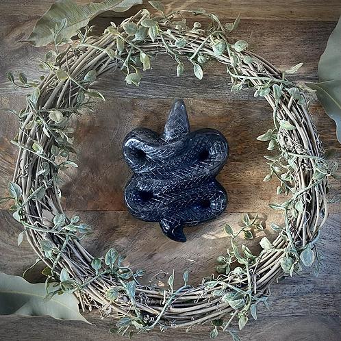 Silver Sheen Obsidian Snake