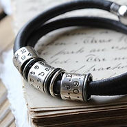 Morgan and French Leather Memory Bracelet