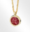 Ashes into Glass ruby pendant