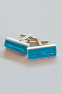 Langham Glass Forever into Glass cufflinks