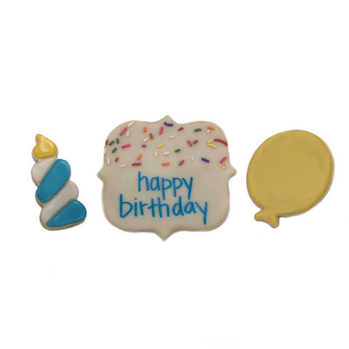 Iced Sugar Cookie (Happy Birthday)