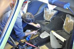 Installation des assises arrière