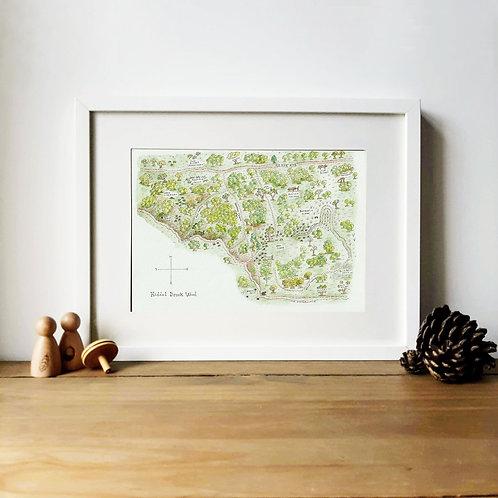 Hiddel Brock Wood Map