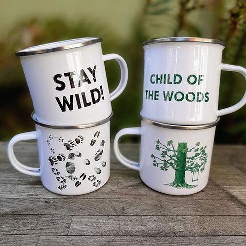 Enamel camping mug 12oz