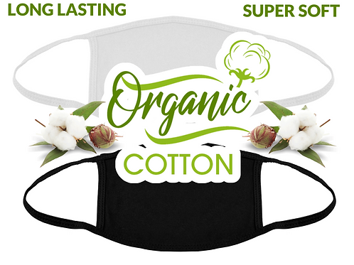 Organic Cotton Face Mask Cover / Washable