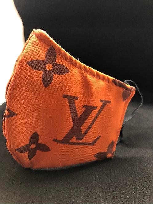 Orange Louis Vuitton Face Mask