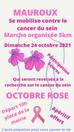 Dimanche 24 Octobre : Marche organisée de 5km à l'occasion d'Octobre Rose