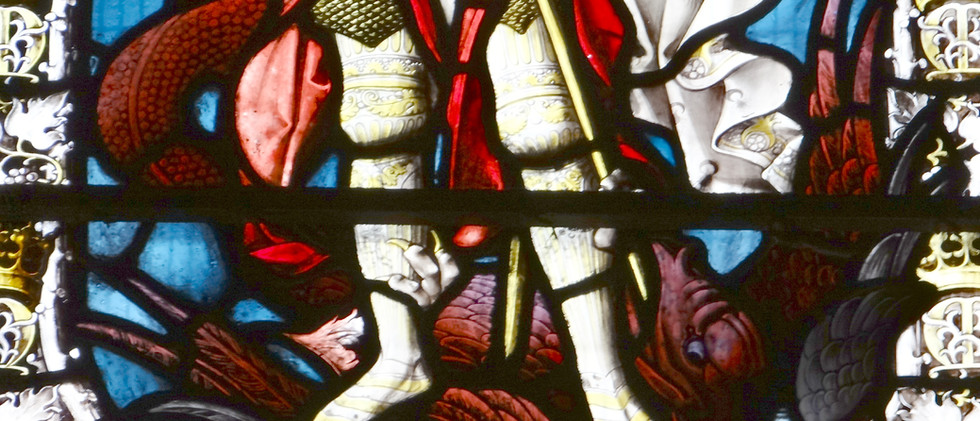 South transept, Cardinal Manning memorial window, by J F Bentley, 1896