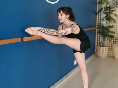 Barre instructor Claire at Fit Panda
