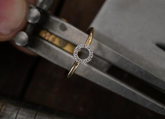 9ct Rose Gold Minimal Halo Ring