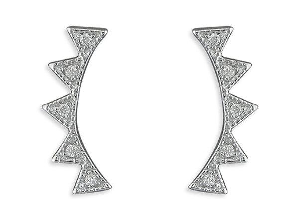 Silver Cubic Zirconia Aztek Climbers