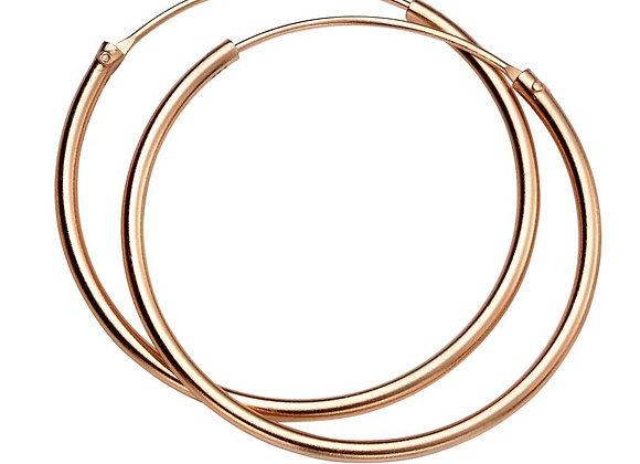 Silver Rose Gold Plated 30mm Hoop Earrings