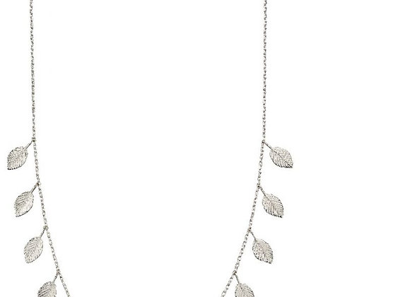 Silver Multi Leaf Necklace