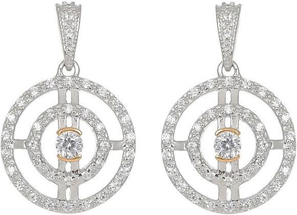 Paloma Gold Circle Drop Earrings