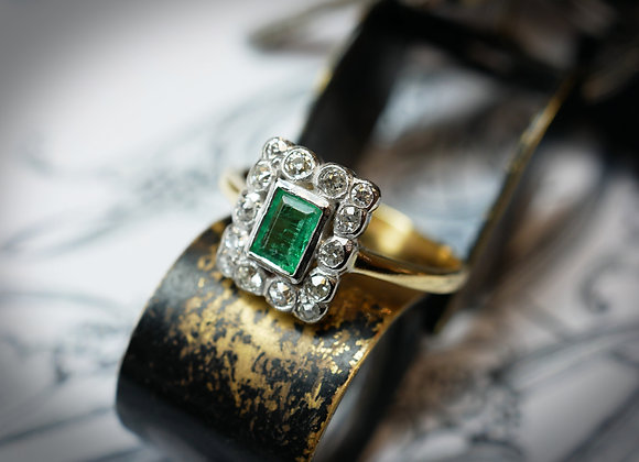 Eclectic Diamond & Emerald Deco Beauty