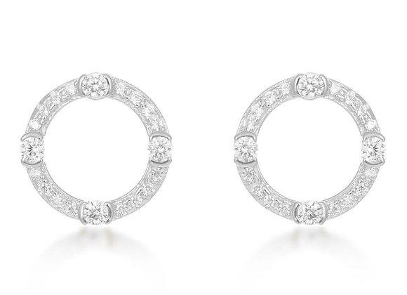 Luna Silver Circle Earrings