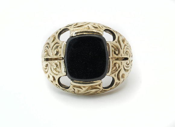 9ct Onyx Signet Ring