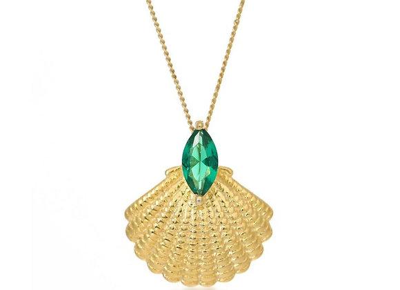 Pamela Gold Shell Necklace