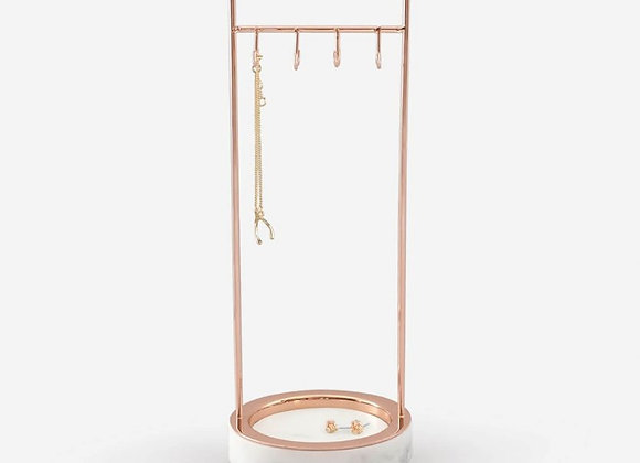 Marble 8 Hook Jewellery Stand