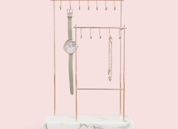 Marble 12 Hook Jewellery Stand