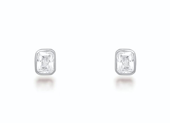Isla Silver Stud Earrings