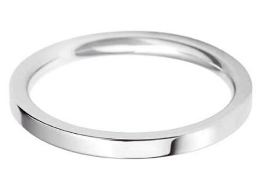 18ct Gold 2mm Flat Top Court Shape Wedding Ring