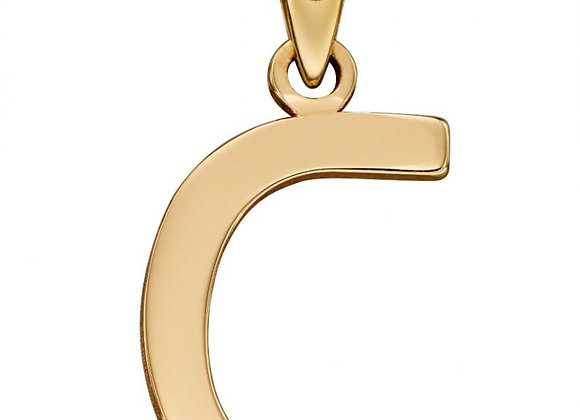 9ct Yellow Gold Letter 'C' Initial Pendant