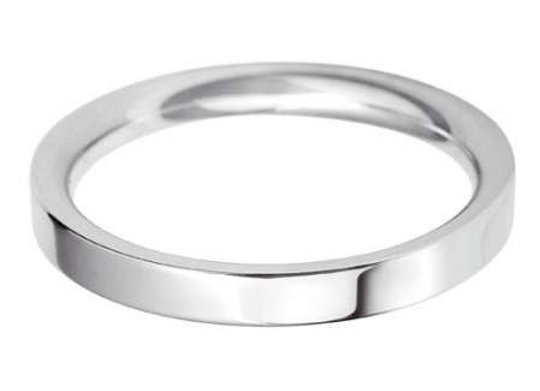 9ct Gold 3mm Flat Top Court Shape Wedding Ring