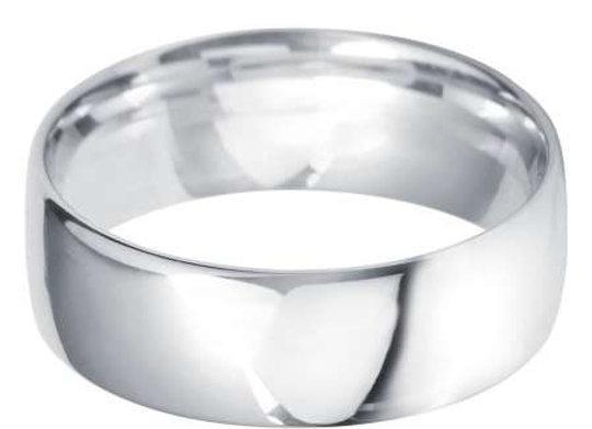 9ct Gold 7mm Court Shape Wedding Ring