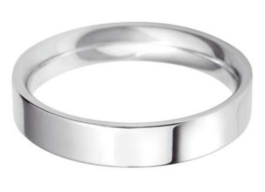 18ct Gold 3mm Flat Top Court Shape Wedding Ring
