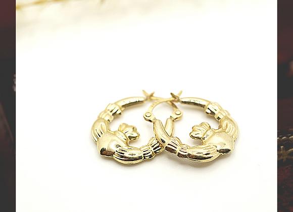 9ct Claddagh earrings