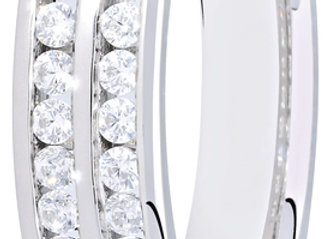 18ct 0.50ct Round Cut Diamond Two Row Channel Set Ring