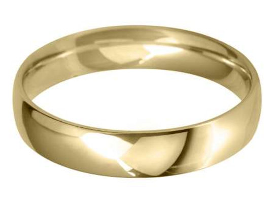 18ct Gold 4mm Court Shape Wedding Ring