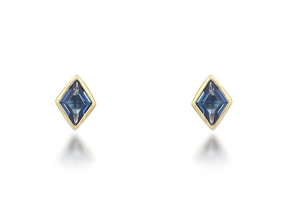 Lou Blue Stud Earrings