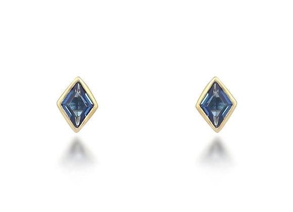 Lou Blue Stud Earrings