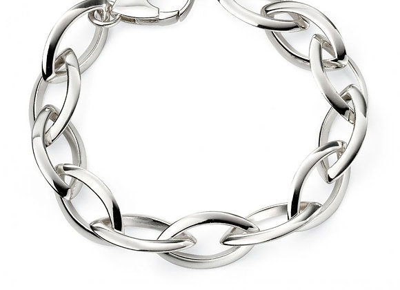 Silver Chunky Navette Bracelet