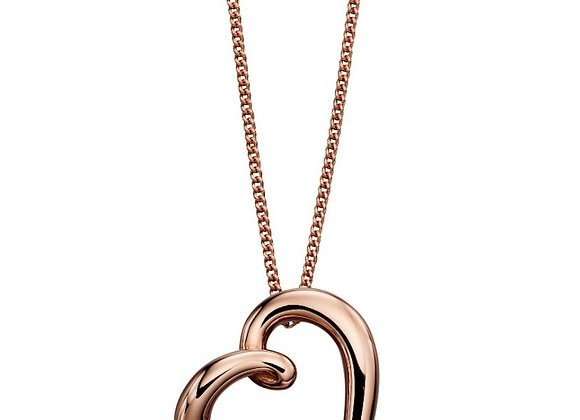 9ct Rose Gold Elegant Heart Pendant