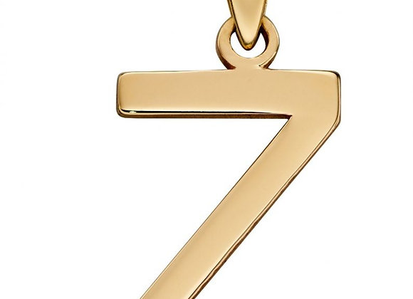 9ct Yellow Gold Letter 'Z' Initial Pendant