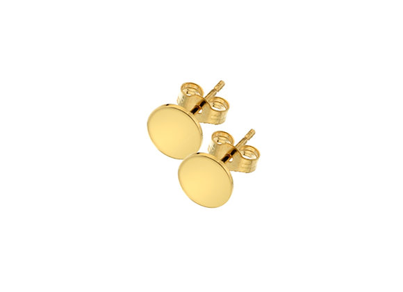 9ct Yellow Gold Tag Stud Earrings