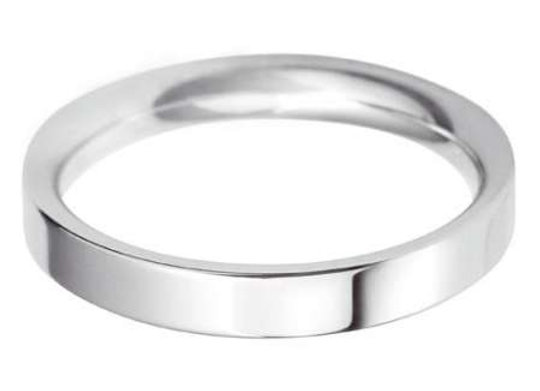 9ct Gold 4mm Flat Top Court Shape Wedding Ring