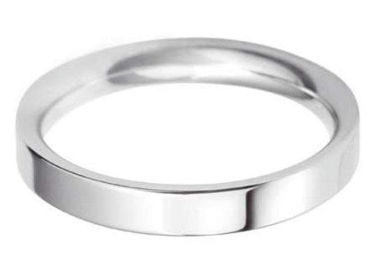 9ct Gold 4mm Flat Top Court Shape Wedding Ring