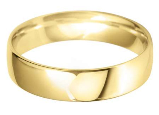 18ct Gold 5mm Court Shape Wedding Ring