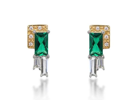Audrey Green Stud Earrings