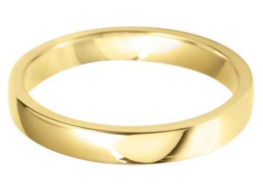 18ct Gold 3mm Court Shape Wedding Ring
