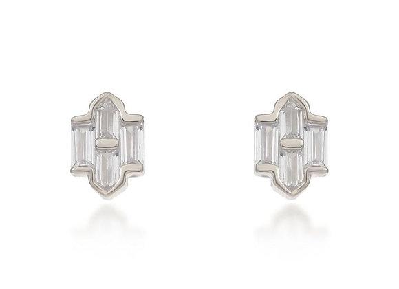 Celeste Silver Stud Earrings